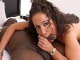 Voluptuous Angelica Lauren gets ass fucked by her well hung ebony boytoy.  She stuffs his shaft in her all holes in many positions before rubbing his love lotion all over her tits.