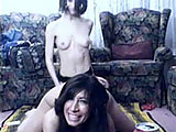 In this scene, Tawny Ocean is teamed up with Roxanne.  Roxanne has a big purple strap on that Has Tawny excited.  These two fuck in the middle of the floor in a couple of positions, until Tawny has her fill.