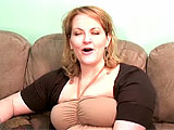 Rebecca is a BBW MILF, size 14 and proud of her full figure. She chats about having fun with girls and guys, listing her stats and detailing her penchant for daily masturbation. After enough talk, she strips, revealing 36 D cans, a road map of stretch marks and plenty of cottage cheese. The clip end