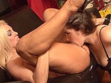 In this scene, older chick Marley Mason gets a young cub to play with.  Kayla is a young and busty brunette that is eager to please her older friend, and enjoy her acquired skills.  They eat each other out until they reach orgasm, and then Kayla dons a strap on.  She fucks her older friend hard on t