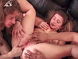 Kelly Cocks is a whore that is fucking two guys in this scene.  She sucks and fucks both of them, and gets her asshole fingered.  Only one guy is seen busting his nut in this scene, giving her a creampie that oozes out over her ass.