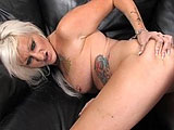 Lana Phoenix is a tattooed freak that is ready to take it in the ass for this scene.  After a quick Suckjob, the guy dips it in her pussy for a bit before bending her over to stuff it in her ass.  He gapes her ass open and then switches back to her twat.  The guy pulls out and blasts his load all ov
