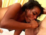 Aysha, a cute Latina, is getting pumped by three guys. She takes one guy in her mouth, another one in her hand, while the last guy buries his dick deep inside her backdoor. Within a couple of minutes, she has all of them in her at the same time.