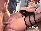 Busty Michelle Avanti goes cock crazy on two beefy fuck sticks. Some balls deep double penetration action leads to both of her holes getting creamed.