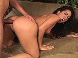 Monique Madison is a sexy little Latina that loves cock in every hole.  She sucks it deep in her throat and takes it hard in her pussy and ass.  As her ass is getting gaped open from its assault, she rubs one out for herself.  Monique takes the load of goo in her mouth and chugs it down.