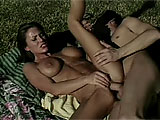Sky Taylor is the featured slut for this scene.  After an interview where we learn a bit about her personal life and that she wanted to fuck her boyfriend on the first date, she gets with her co-star out in the grass.  He fingers and licks her vag, and she gives him a blowie.  They fuck in a couple