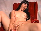 Mary Jane thinks that porn will be fun and interesting, so she is here to give it a try.  She strips down to show off her pierced perkies and shaved slit.  After playing with her clit, Mary Jane jams a vibrator up her twat and asks to do it again.