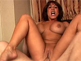 Ava Devine is in a Vegas hotel room for this scene.  Watch this Asian whore take cock in her throat, and both of her cock sockets. She sucks that dick dirty and swallows down a load of dick juice.
