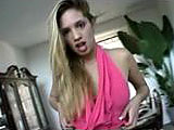 In this scene, watch this petite blonde do a little tease before getting her bald pussy finger banged hard.  After Dani's juices are flowing, this guy can't resist diving in to taste that sweet nectar.  He pounds her pussy deep and hard, dumping a load of goo inside that sloppy slit.