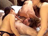 In this amateur scene, three girls argue over who has to suck the hairy guys dick.  They take turns sucking his dick and licking his balls.  River is the first to get fucked in mish, then Holly gets it in doggie and mish. Vixen the midget goes last in doggie, while Holly is underneath licking her