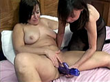 Amateur BBW, Liisa normally wants dick, but there are none around.  So in this scene, she is paired up with a midget girl named Vixen.  She goes down on Liisa and then uses a vibrator on her.  Liisa returns the favor and they both have their orgasms.