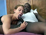 This amateur scene is Mariah sucking her first ever black cock.  She sucks him off and swallows most of his load.