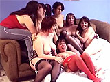 This amateur scene is a group of 7 chicks eating pussy and fucking with strap-ons.  One of the chicks, Roxanne, takes it in the ass before the scene is over.