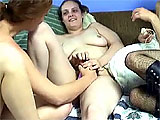 This scene has 6 amateur chicks on a pull out bed with their toys.  The highlight would be Mariah pumping away at Crista's pussy with a strap on, and then crazy fucking her with a vibrator.