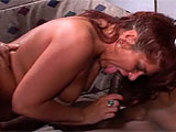 Karma has always wanted to get fucked in a gang bang, so she responded to an internet ad.  She thinks variety is the spice of life and loves all the different cocks that she gets to suck and fuck.  These guys pound away at her fat pussy and cover her face with their cum.