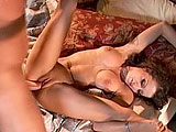 In this scene, Vanessa Lane is a sexy flight attendant giving it up for one of the troops.  He eats her bald pussy and licks her asshole.  She returns the favor, sucking and stroking his large cock deep in her throat.  Vanessa gets pounded in her pussy, and then gets stuffed in the ass.  She sucks c