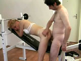 A sexy blonde milf is hogging on a massive cock. After warming up the guy with a wet knobjob, she gets fucked in multiple positions before getting her face rinsed off in the guy's man milk.