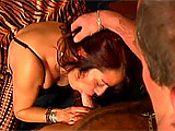This mature Latina is Milagro. She is apparently a nature girl as she rubs her tits all over the flowers and bushes.  Speaking of bushes, hers hasn't seen a razor in quite some time.  Her neighbor stops by and she has him stay to take of her.  He dives in to eat Milagro's muff and she sucks on h