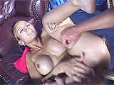 Shy Love is a genie that twists the rules.  She is the one that gets the wishes, and what she wishes for is a boy toy.  Shy first has her slave pleasure her orally, and he eats her tight holes.  Next she has him fuck her hard in both her pussy and her asshole.