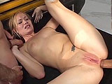 Two hung teachers bury their hard cocks in hot blonde Katie Ray.  She grabs their meat swords and proceeds to suck and jerk them until they're both throbbing hard.  At which point, both dude's take turns fucking her mouth and asshole.