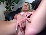 This sexy blonde loves to play with her pussy in front of the camera, and she only likes using her fingers!  It's kind of hot.