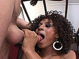 In this scene, Misty Stone is a Midwestern chick from Omaha.  She talks about her love of white guys.  She prefers them over black guys, and is excited to get fucked by a white guy today.  After sucking his cock to get him ready, she fucks him in a few positions, crying out in pleasure.  Misty wants