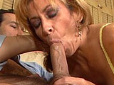 In this scene, Mikela Kennedy is an older chick that is willing to suck and fuck for a job.  She gets her hairy pussy pumped hard until she is left with a dripping pussy that she scoops up and eats.