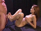 This sexy starlet is Daisy Marie.  A guy is jacking off and fucking her feet.  They fuck in a few positions and the guy strokes off on her face and in her mouth.  If anyone knows why Daisy has a tattoo of a fat woman on her back, Id love to hear the reason.