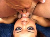 Annie Cruz, a hot little Asian, has got her lush lips wrapped around a big cock. After sucking on the guy's cock, she gets ass fucked in a number of positions. She has her face rinsed down with man spunk at the end.