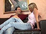 In this scene, Jordan Sinz doesn't feel like going out.  She just wants to stay in and fuck.  Her man has no problem with that and is soon getting his knob shined.  He licks her sweet pussy and she then mounts up for a cock ride.  Jordan gets her pink hole pounded in a few positions, and she sucks
