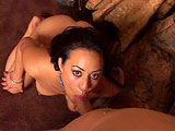 Lani Lei is a Hawaiian whore that loves cum in her pussy.  She crawls over to the couch to her man and he strips off her clothes.  After a blowjob and some titty fucking, the guy takes a taste of her sweet slit.  Lani is fucked hard and is a big squirter when her man hits the right spot.  The guy bl