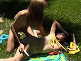 Mika Tan and Tiffany Mason get together in this scene.  Watch these two exotic whores lap at each other's pussies with their tongues and stuff vibrators in and out of those juicy holes.