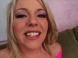 Slutty blonde, Missy Moroe, is going for a rough ride. This nasty nympho deep throats 3 cocks before jamming two of them in her once. Don't miss out on this DP athon.