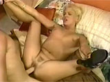 This scene features Euroslut, Dru Berrymore.  Shes been fucking on film since the early 90s.  Here she gets herself warmed up for the main event by masturbating and stuffing a vibrator in her pussy.  Her man joins her and dines at the Y for a bit, and she returns the favor with a nice beejer. 