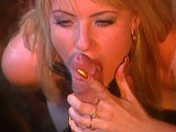 This scene starts out in a bar with Selena Del Ray on her knees sucking big cock.  She fucks this guy with her big tits, and then he eats her pussy up on the bar.  Selena rides him on the bar, and he bends her over a stool before giving her a closed mouth facial.