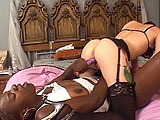 Angile Beth and Gabrielle Dreams are teasing each others cunts with two purple dildos. Both girls continue fucking each other fully, and only stopping to lube the dildos with their dirty mouths.