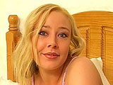 This blonde with big tits is Alyssa Jenkins.  She enters the bedroom with a guy and they immediately start in.  Alyssa soon has his cock in her mouth, and he returns the favor and eats her pussy and ass.  They fuck in a couple positions, and then the guy plows her gaping asshole.  Alyssa sucks it di