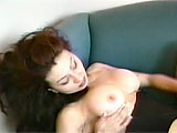 This clip is a two-fer.  First up is Catalina.  She is on the couch in some sexy lingerie. Spending some quality alone time.  Watch her play with her pierced clit and use a vibe on her vag to get herself off.  Next up is alexis.  She puts on her masturbation show in the bedroom.  This blonde nympho