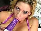 I'm not a huge fan of milfs, but this Phylissa Anne has got some fun bags I'd love to smother my face between.  She works her vibrator ever so gently in and out of her twat, bringing herself to orgasm.