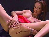 In this scene, Daisy Marie is all by herself giving a sexy strip show.  After her show, she rolls around on the floor masturbating while a rabbit spins around next to her.  Daisy shows her western skills by riding a sybian machine with it turned on to maximum vibrate.  This cowgirl will not be bucke
