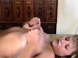 In this compilation lactation clip, you get the pleasure of seeing three different mommies produce milk from their tits. The first is a sexy blonde in a corset, she squirts her milk into a glass and drinks it up. Then, a black beauty does the same. Finally, a curvy mom with a bald snatch lies on a t