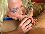 Nikki Hunter is feeling frisky and waiting on the couch for her man to get home.  The douchebag forgot it was her birthday, so she wants him to be her slave.  She sits on his face and has him lick her pierced pussy.  Next she sucks on his birthday candle until it's ready to stuff inside her pie.