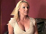 Top heavy milf Stunning Summer is sad because her son's friend is moving away.  So, she got him a gift.  Guess what it is!  No, it's not an RC car or a video game, it's her dripping wet twat.