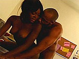 This black nut slut loves milking a warm load from hard black cock! First, she shows off her mouth skills before getting her hairy vaj tapped.   She milks the guy's vein busting monster off all over her face.