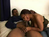 This dude pulls out his large cock so this black slut can hog it all the way down. The rest of the clip, this whore is swallowing dick and riding it in a couple of positions.