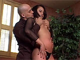 Aggressive fingering opens this scene, with a dude digitally invading a hot Asian slut's slot underneath her leather thong. She performs some quick oral on her guy, but they get to the cock riding quickly because she's got something in store for him. A few pumps and she's already horny enough