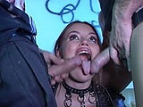 Saphire Rae is a groupie that wants to suck dick for an autograph.  After blowing the guys, she gets fucked in both of her meat holes.  In the end she takes cum to the face, and never gets that autograph.