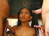 Little Asian princess Jade Marcela isn't a good girl.  She's a fucking cum dumpster.  She gets so fucking nasty, we had to make up some new search terms for her! What the fuck is wrong with this girl?