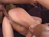 Sara Stone loses a game of poker to her man, and he gets to have his way with her.  Watch this brunette get her throat and pussy pumped while her big naturals bounce all around.  He shoots his load on those meat mountains and even sprays her in the eye.
