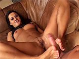 Sandra Romain crawls around and gets a butt plug stuffed up her ass to kickstart this scene.  This nasty Euro tramp gets her holes played with before deepthroating dick.  She rides that cock and sits on her mans face to get her asshole licked.  After both of her cock sockets get their fair share 